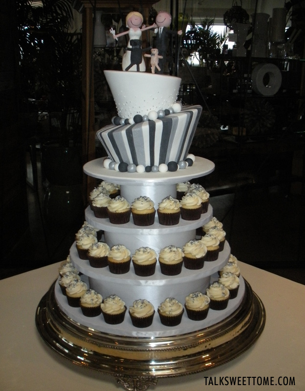 Cupcake display with madhatter cake - Talk Sweet to Me - talksweettome.com