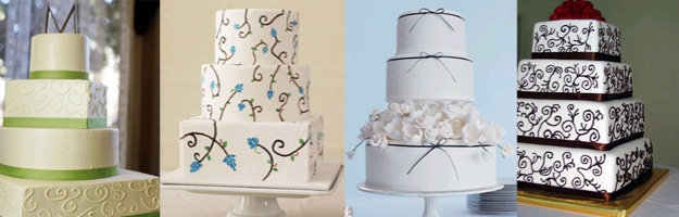 Inspiration cakes from bride - Talk Sweet to Me - talksweetome.com