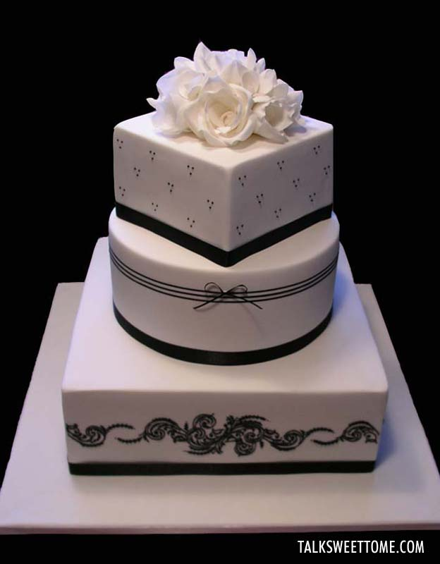 Black and White Cake - Talk Sweet to Me - talksweettome.com