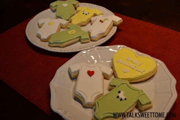 Finished cookies on plate - talksweettome.com