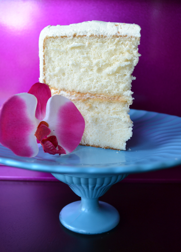 Slice of Cake - Vanilla Cake Recipe Testing - talksweettome.com