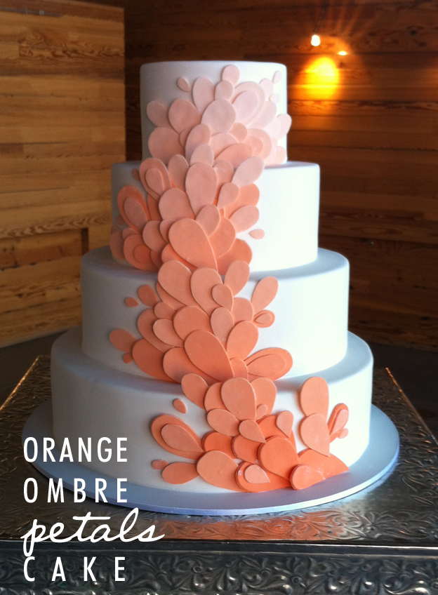 Intro - Orange Ombre Petals Cake - talksweettome.com