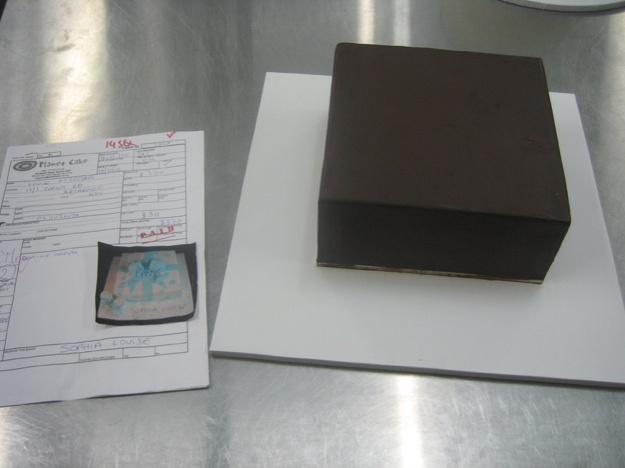 Beginning present box cake - Talk Sweet to Me