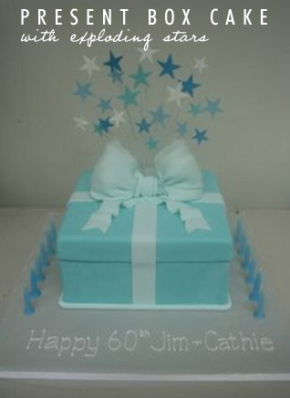 Blue Present Box Cake |Talk Sweet To Me