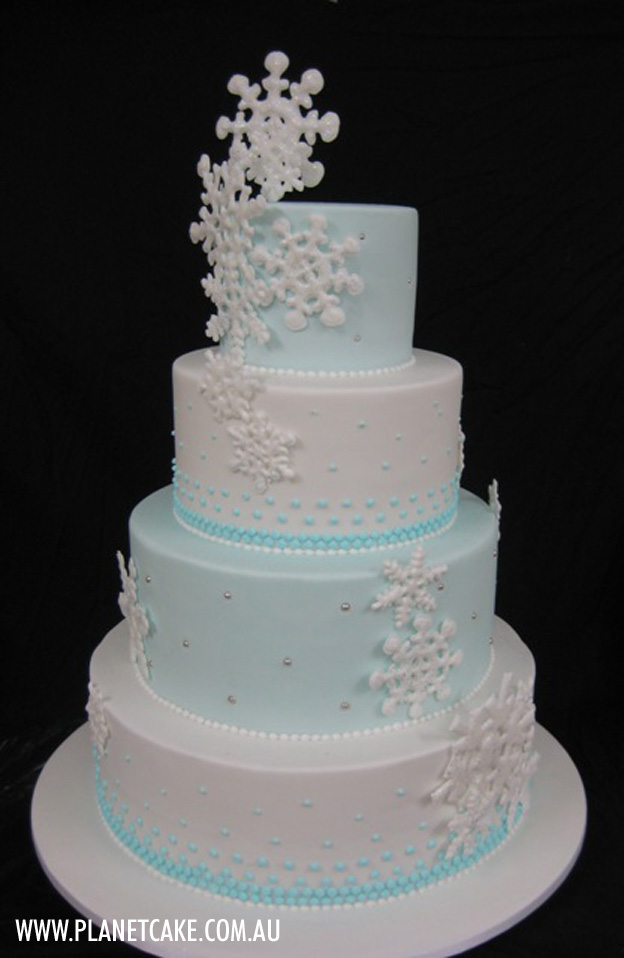 Snowflake Cake by Planet Cake