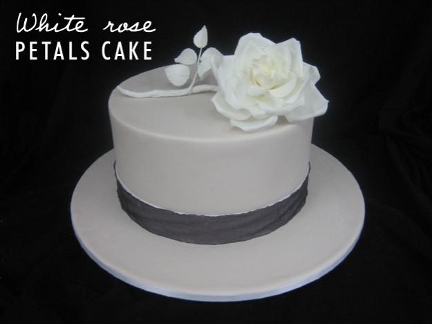 White rose petals cake - Talk Sweet to Me