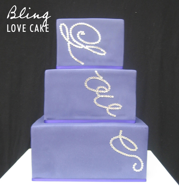 Bling love cake - Talk Sweet to Me