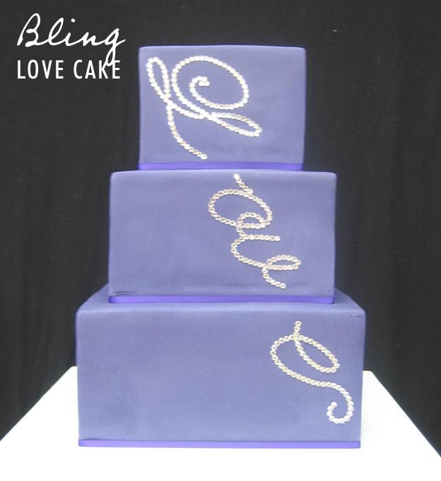 Bling love cake - Talk Sweet to Me