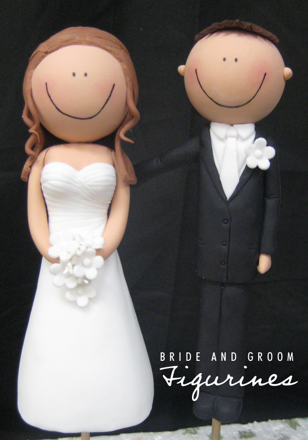 Bride and groom sugar figurines - Talk Sweet to Me