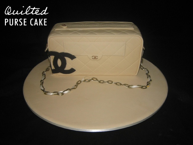 Chanel purse cake - Talk Sweet to Me
