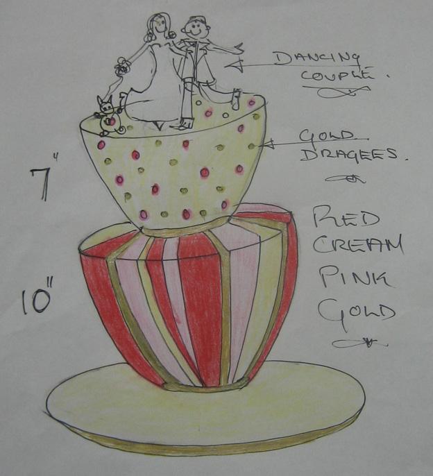 Dancing figurines design drawing - Talk Sweet to Me