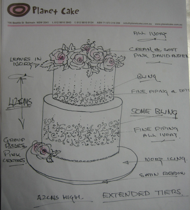 Flower cake design drawing - Talk Sweet to Me