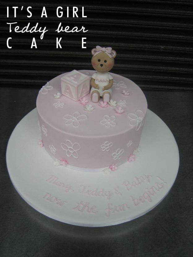 Its a girl teddy bear cake - Talk Sweet to Me