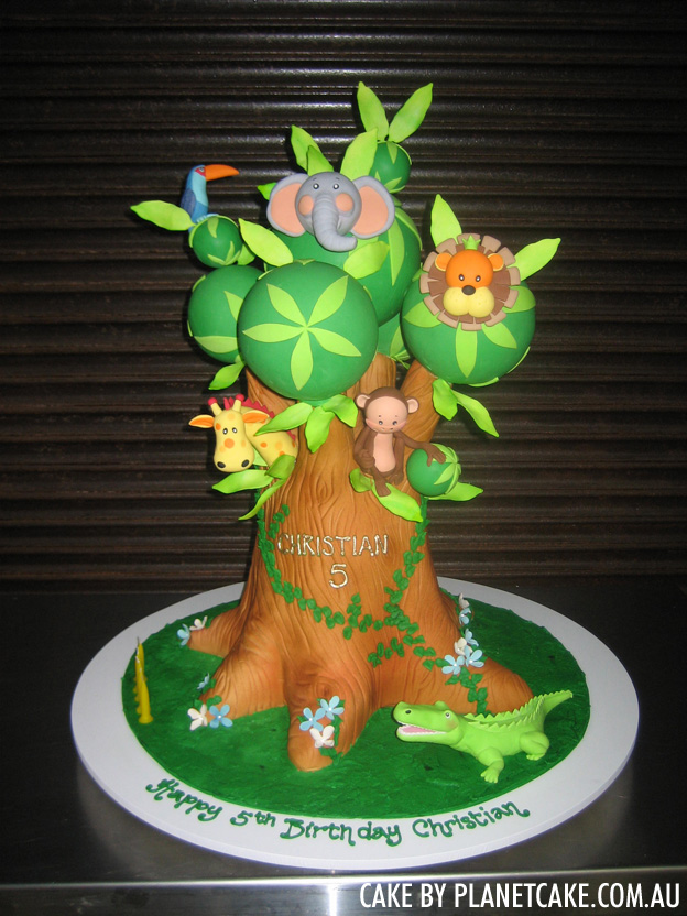 Jungle tree cake