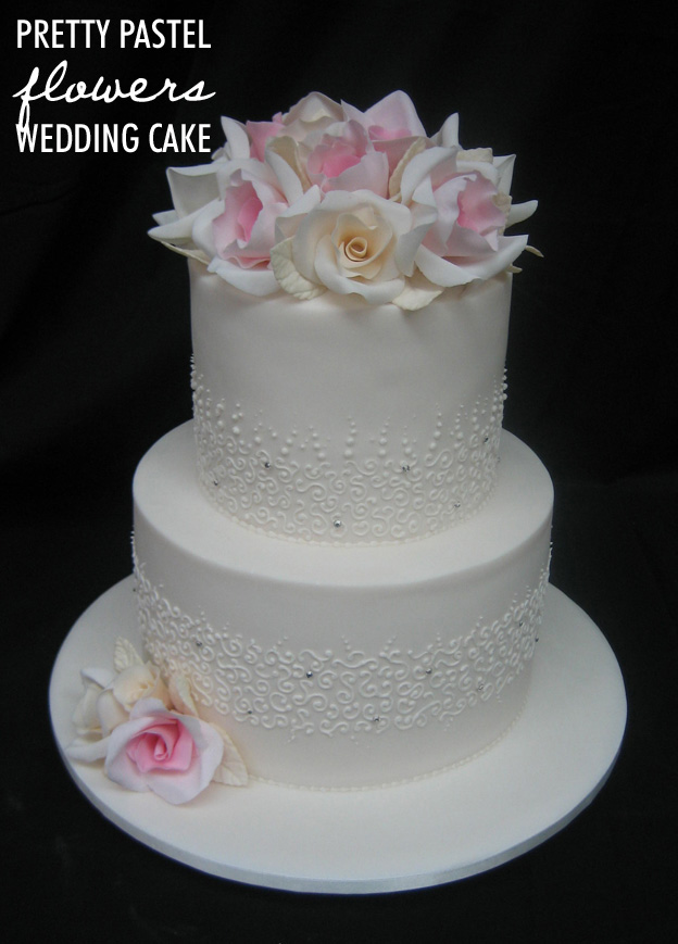 Pastel flowers wedding cake - Talk Sweet to Me