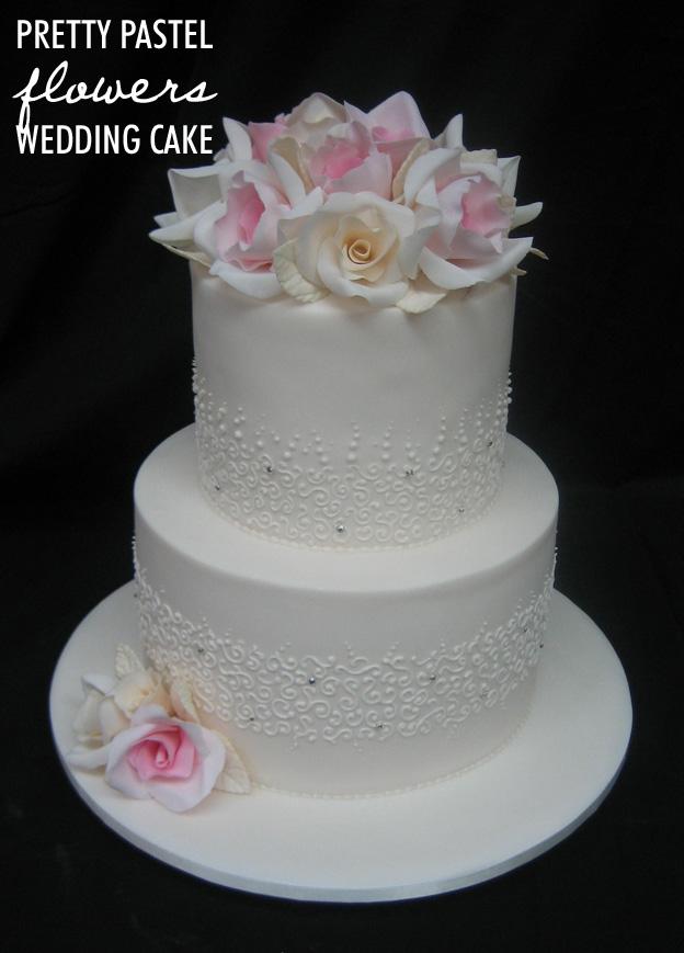 Pastel flowers wedding cake - Talk Sweet to Me