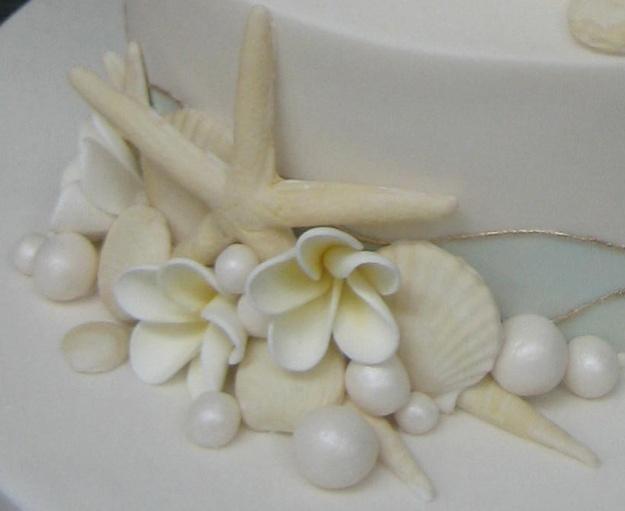 Sugar seashells for beach cake - Talk Sweet to Me