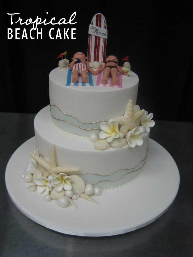 Tropical beach cake - Talk Sweet to Me