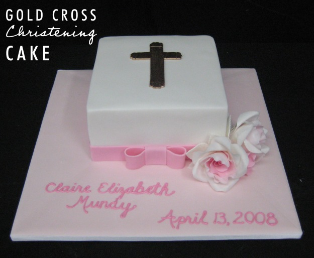 Christening Baptism Cake - Talk Sweet to Me