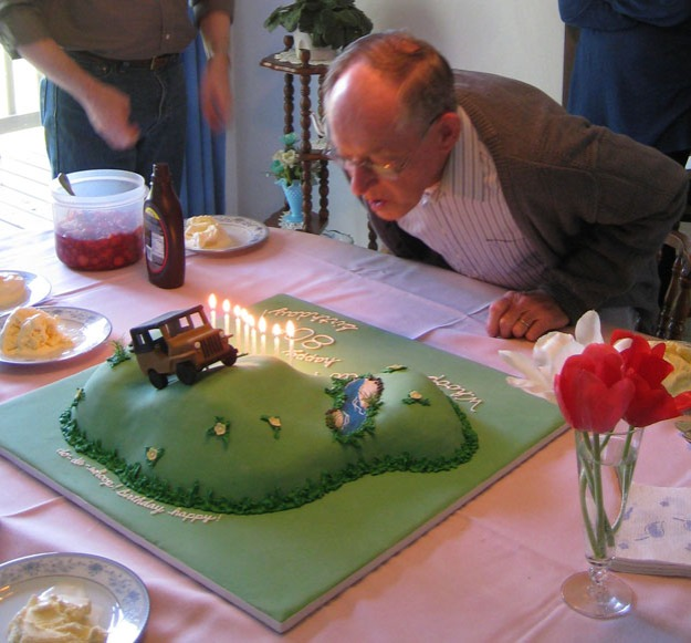 Grandpa blowing out candles - Talk Sweet to Me