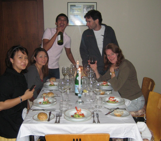 Group at dinner party - Talk Sweet to Me