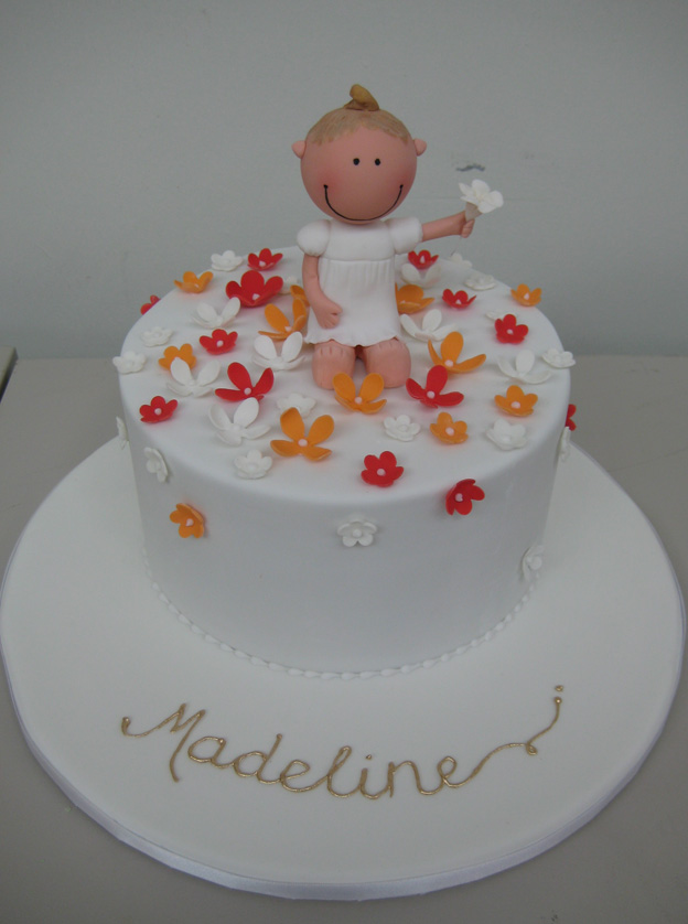 Little girl figurine cake with petals - Talk Sweet to Me