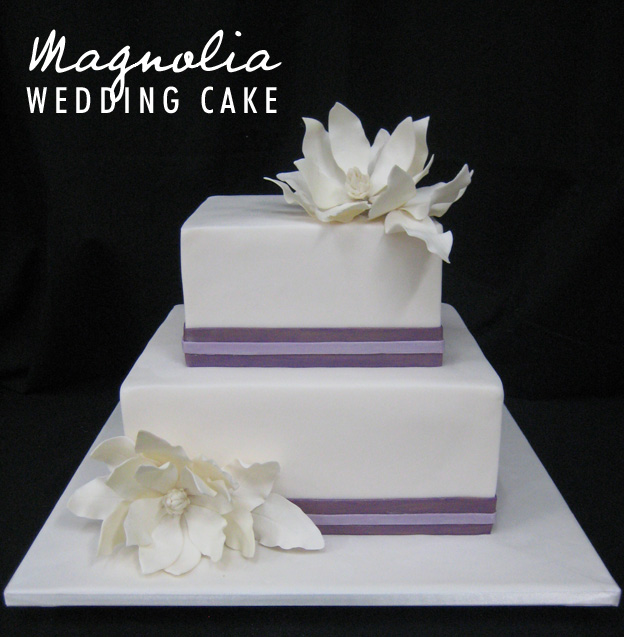 Magnolia wedding cake - Talk Sweet to Me
