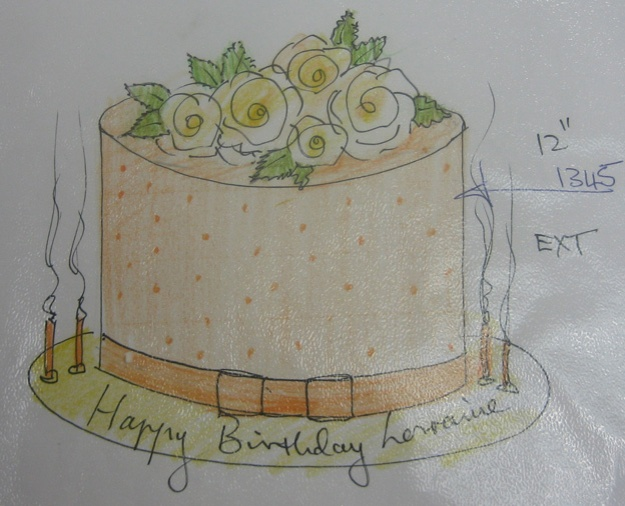 Orange cake design inspiration - Talk Sweet to Me