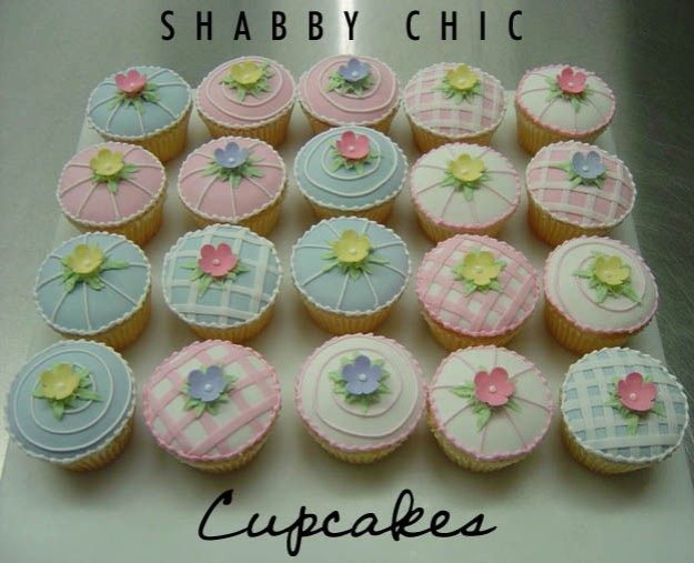 Shabby chic cupcakes - Talk Sweet to Me