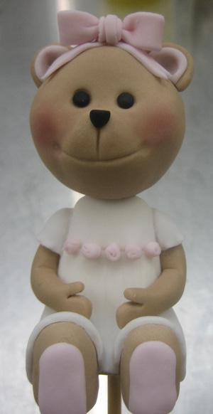 Teddy bear figurine finished - Talk Sweet to Me
