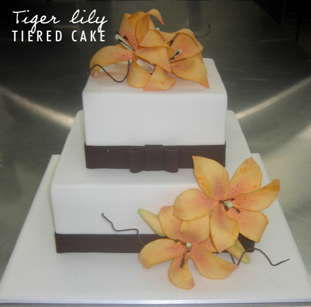 Tiered tiger lily cake - Talk Sweet to Me