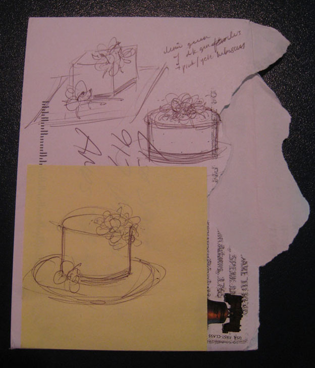 Cake design drawing - Talk Sweet to Me