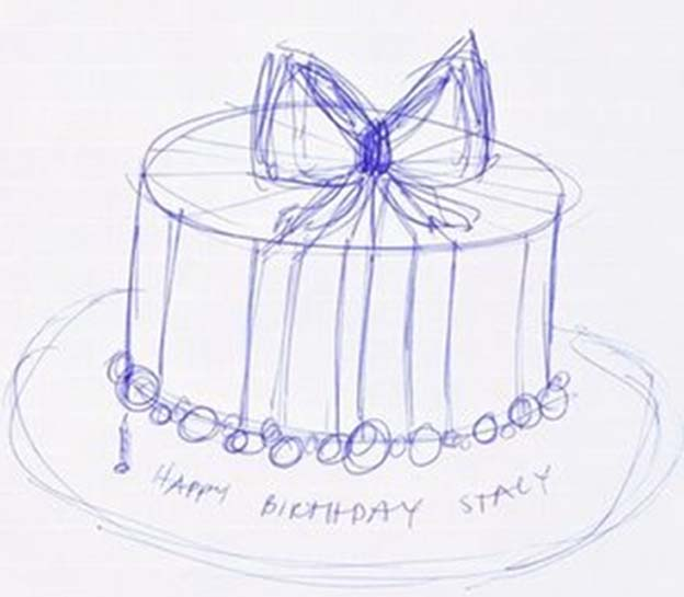 drawing cakes designs