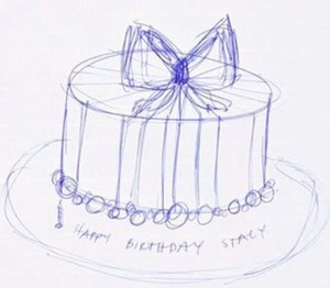 Cake design drawing