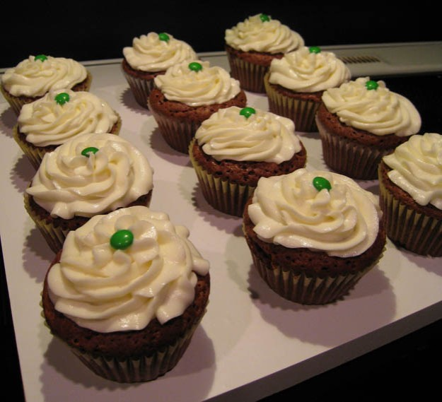 Chocolate mint cupcakes - Talk Sweet to Me