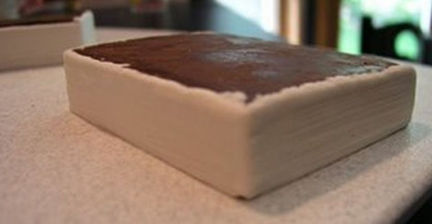 Covering book with fondant - pages