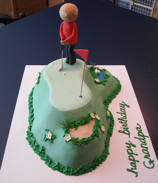 Golfing cake from side - Talk Sweet to Me