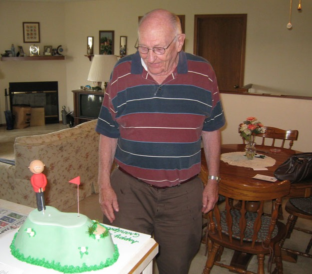 Grandpa McElherne sees cake - Talk Sweet to Me