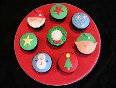 Holiday cupcake designs