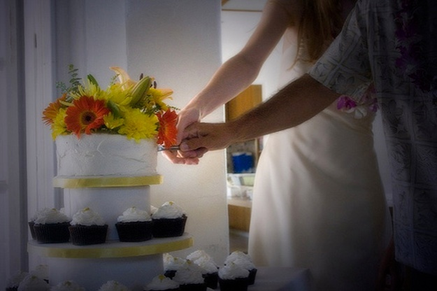 Lou wedding photo8-cake