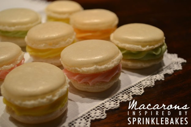 Finished Macarons - Talk Sweet to Me