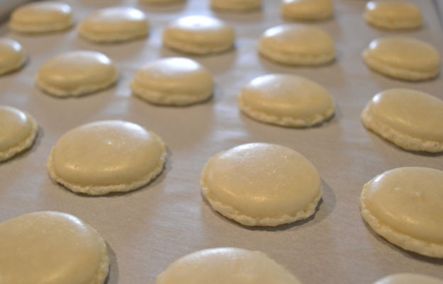 Macaron shells with foot - Talk Sweet to Me